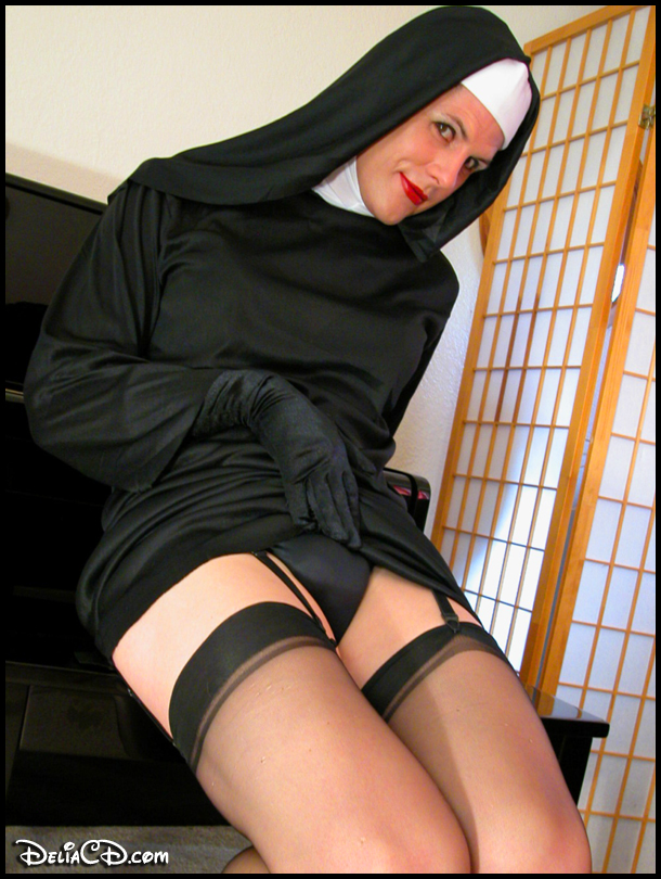 The naughty nun with someting special in her panties for you!!!